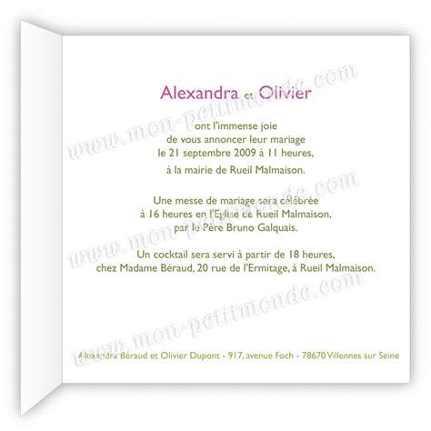 Exemple De Lettre D Invitation De Mariage Modele Lettre Faire Part Mariage