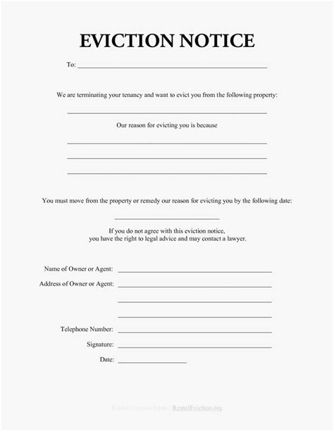 eviction notice template alberta free 30 day eviction notice template eviction notice
