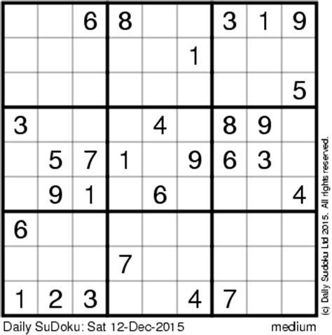 printable usa today sudoku puzzles the daily sudoku
