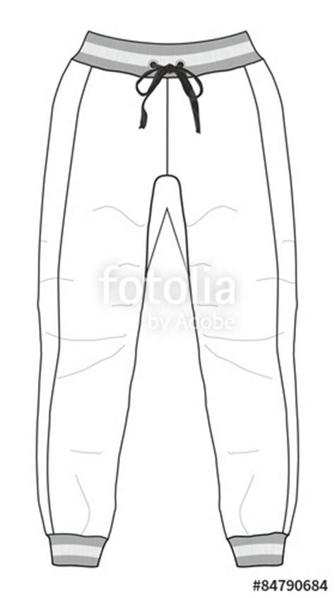 Jogging Pants Clipart Black And White Clipartxtras Sweatpants Template Vector