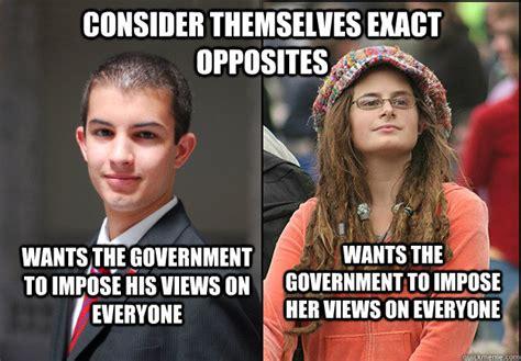College Conservative Meme - quot college liberal vs college conservative quot not so