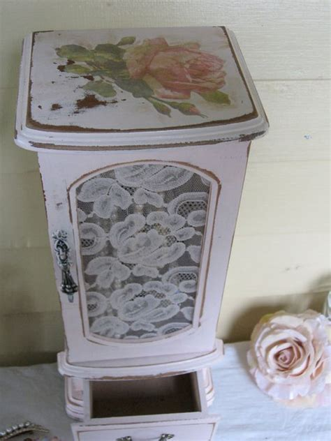 shabby chic jewelry cabinet jewelry box with mirror pink shabby chic