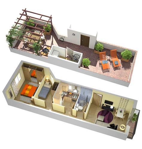 plantas 3d planos de casas en 3d para venta inmobiliaria estudibasic