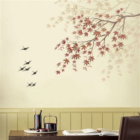 stencils for home decor stencil japanese maple branch reusable stencils for easy