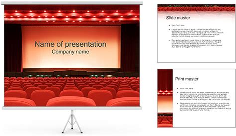 templates powerpoint cinema empty cinema powerpoint template backgrounds id