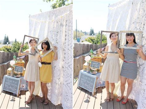 Bridal Shower Photo Booth adorable bridal shower photo booth idea hostess with the