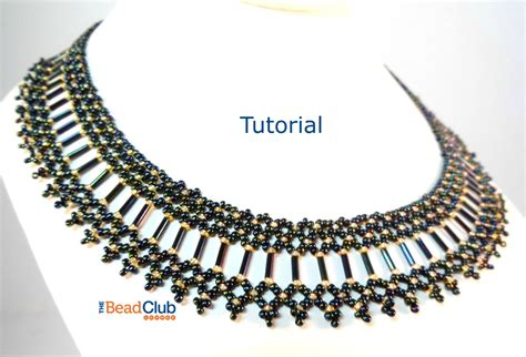 bugle bead patterns bugle bead collar pattern seed bead necklace pattern