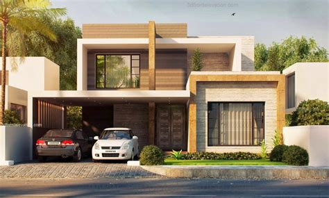 3d front elevation modern house plans house designs in