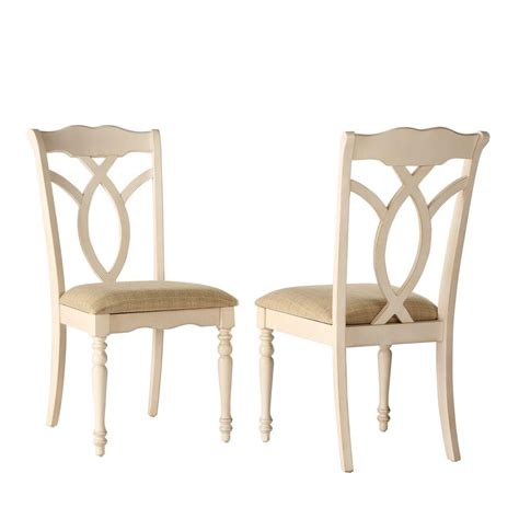 Homesullivan Rosemont Antique White Wood Dining Chair Set Antique White Dining Chairs