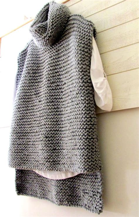 Pattern Neck Sweater cowl neck sweater vest pattern sweater vest