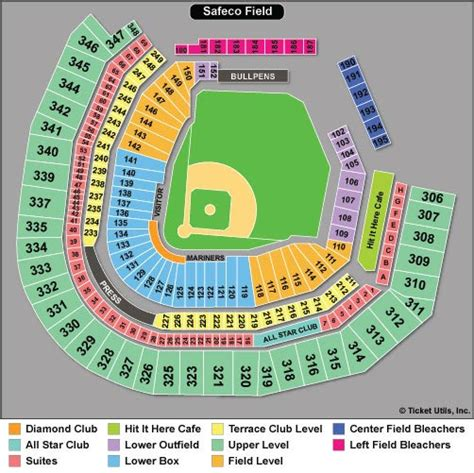 safeco field section map seattle mariners tickets 2018 mariners tickets