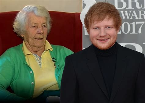 ed sheeran grandmother ed sheeran s granny was on rt 201 news and she was absolutely