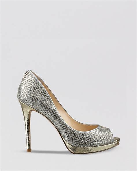 silver peep toe high heels ivanka peep toe evening platform pumps maggie2