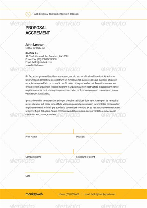 game design proposal template web design proposal by broluthfi graphicriver