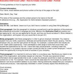 chef cover letter 10 best images of chef resume cover letter chef cover