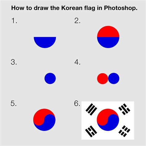 how to doodle in photoshop how to draw the korean flag in photoshop the korea