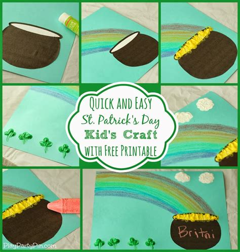 st s day craft simple st s day craft for with crayola play plan
