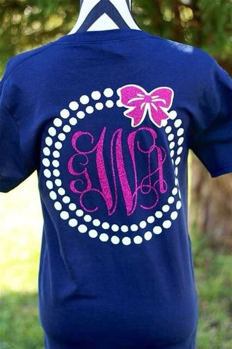 design a monogram shirt monogrammed pearl bow t shirt by carolinasilhouettes on etsy