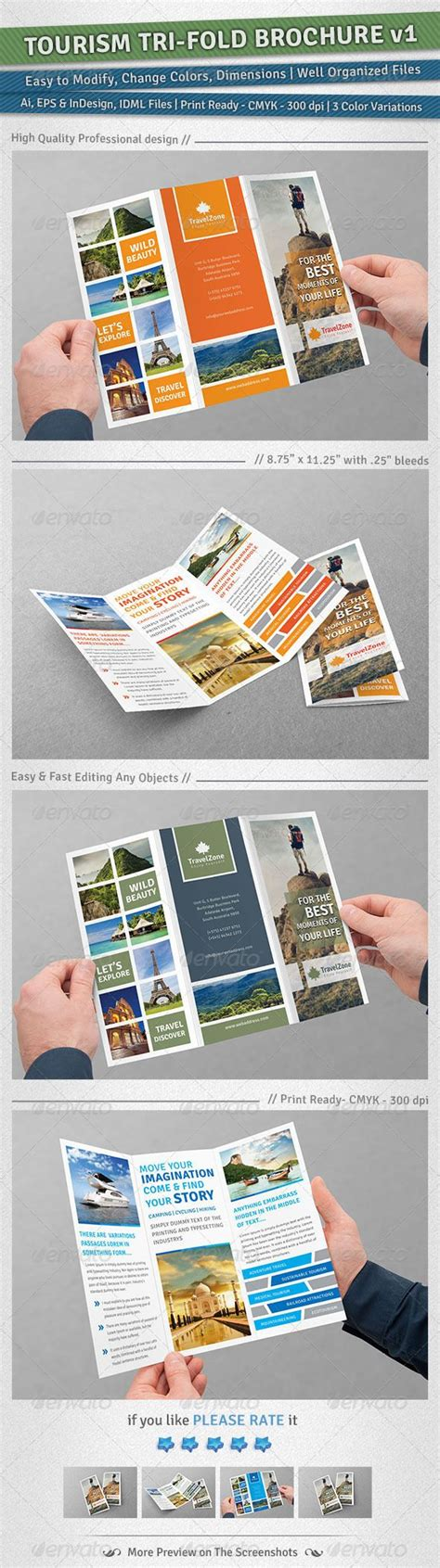 How To Make A Travel Brochure With Paper - 138 best images about tourism travel layout on