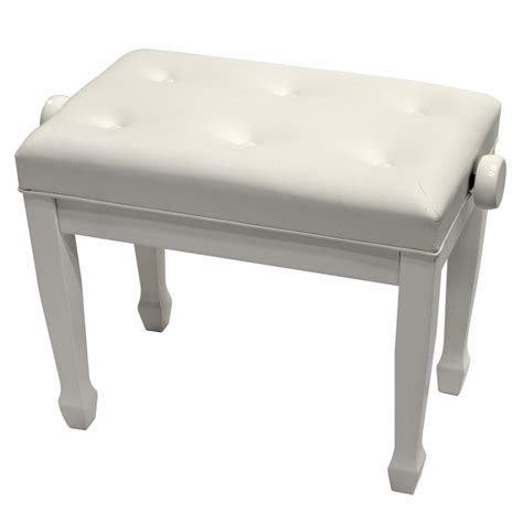 white piano bench padded tufted piano benches frederick music usa