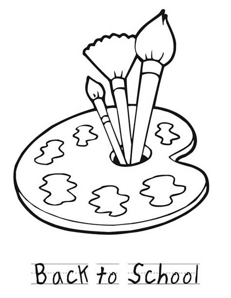 free coloring pages of a paint brush
