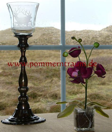 kerzenhalter mit glasaufsatz antik verkupferter kerzenleuchter mit windlichtaufsatz