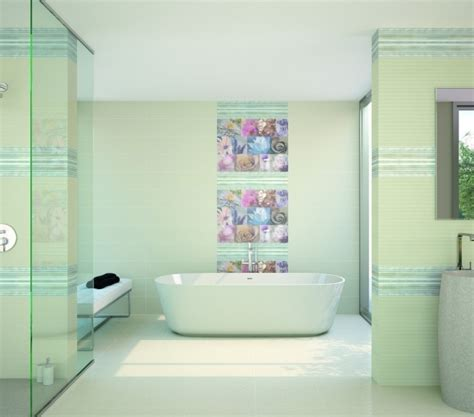 salle de bain carrelage rose clair