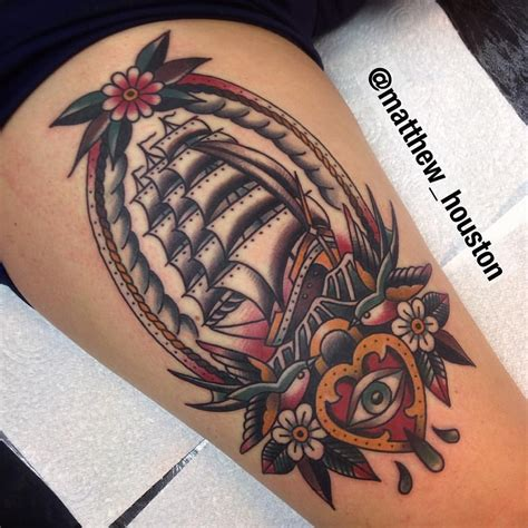 what to put on a tattoo put this clipper ship with some added extras on ricarda