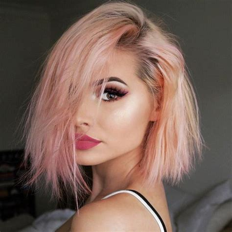 hairstyles color pink kylie jenner peach hair color maquillaje pinterest