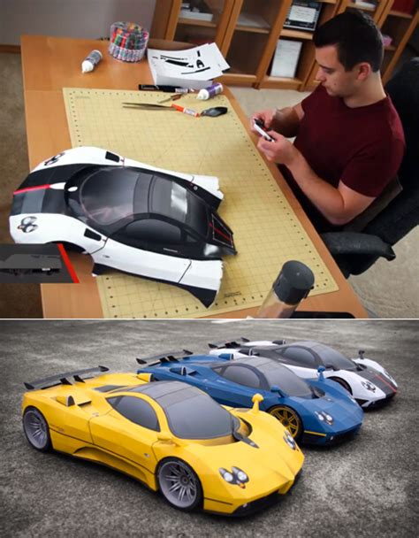 Papercraft Cars - papercraft car modeling skillz core77