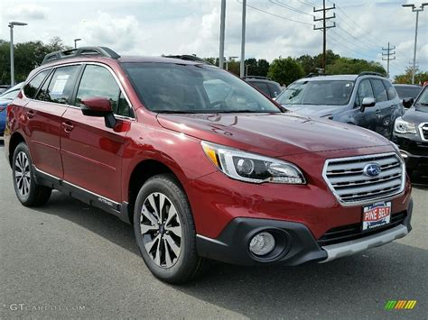 red subaru outback 2017 2017 venetian red pearl subaru outback 3 6r limited