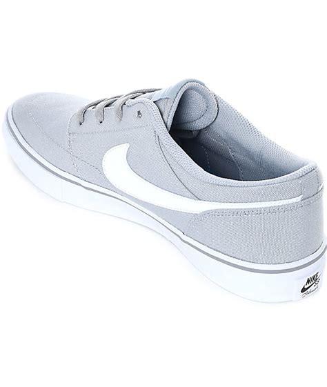 Nike Sb Portmore Canvas Cool Grey White nike sb portmore ii wolf grey white canvas skate shoes zumiez