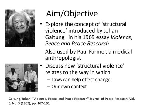 Galtung Johan Essays In Peace Research structural violence