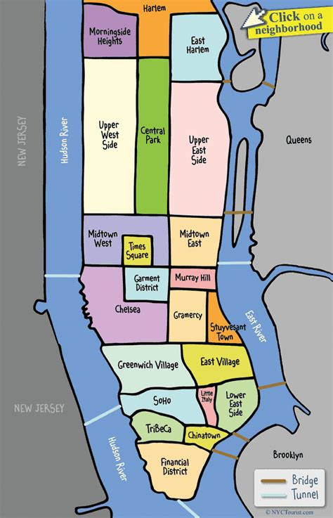 map of areas in nyc nyc manhattan neighborhood map