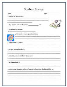 Student Survey Template by Day Of School Day Of School Activities Survey