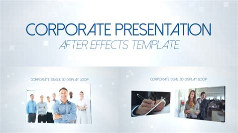 after effects presentation templates corporate presentation
