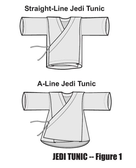 sewing pattern jedi tunic using an a line in a jedi tunic figure 1 all things
