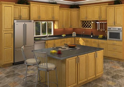 oak cabinets buy carolina oak rta ready to assemble kitchen cabinets