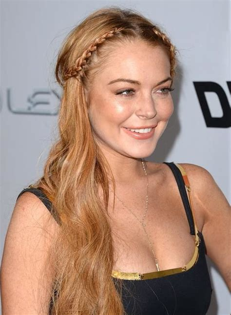 lindsay lohan middle parting fringe images 55 different braided hairstyles and twists you should try now