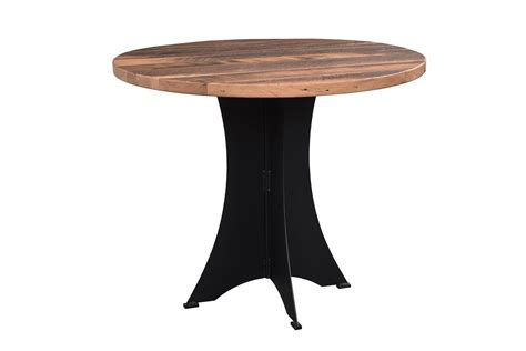 wood round pub table round reclaimed wood brooklyn bar table