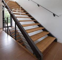 How To Make Steel Stairs by Staircases Extravagant Straight Metal Stringer Stairs