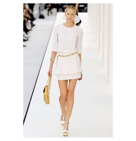 Channel Dress 2 chanel 07p ivory pleated runway dress at 1stdibs