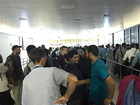 Aniston Causes Chaos At Airport by Passport Malfunction At Mitiga Airport Causes