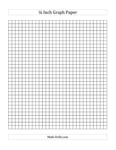 Math Worksheets Graph Paper by 1 4 Inch Graph Paper A Math Worksheet Freemath