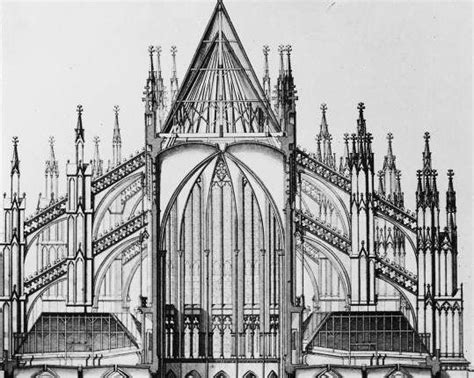 cathedral section cologne cathedral choir cross section design history