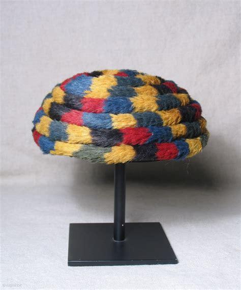 nasca corded pile turbanheaddress peru nasca culture ad   alpaca fiber excellent