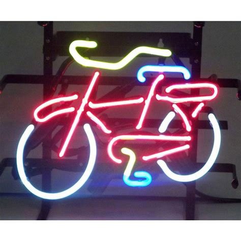 neon light wall bicycle bicycle neon sign by neonetics in neon signs
