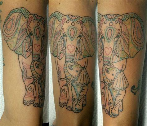 elephant tattoo paisley 17 best images about my tattoo work on pinterest