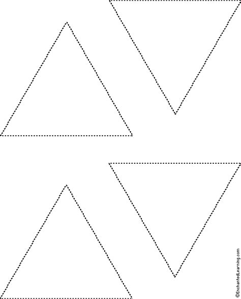tree tracing cutting template enchantedlearning triangles tracing cutting template enchantedlearning