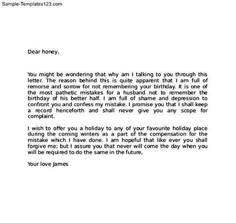 Write An Apology Letter To Your Boyfriend Apology Letter To Sle Templates